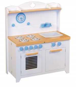 Kids Folding Toy Country Kitchen Hideaway Pretend Play By Guidecraft G97273