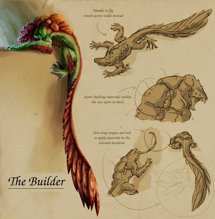 #xenobiology #Mutant 'Builder' by Tchukart on DeviantArt, check out his corner for more of his Bio-Diverse Colony series!