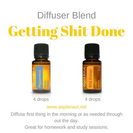 getting shit done motivation uplifting focus study homework doterra essential oils peppermint orange diffuser blend: