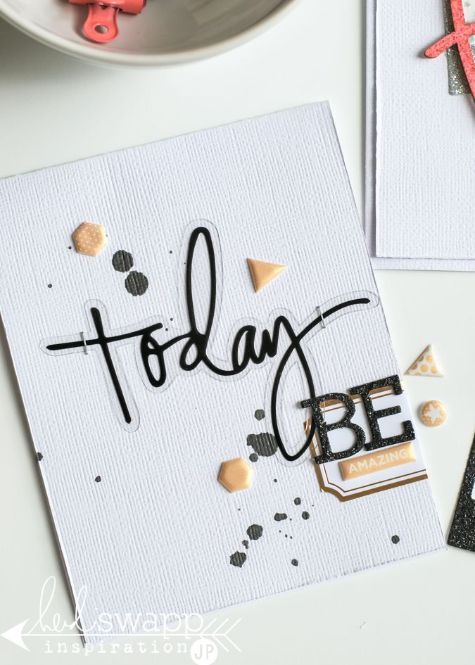 Michaels stickers simple how to card creations using the new heidi swapp sticker collection found