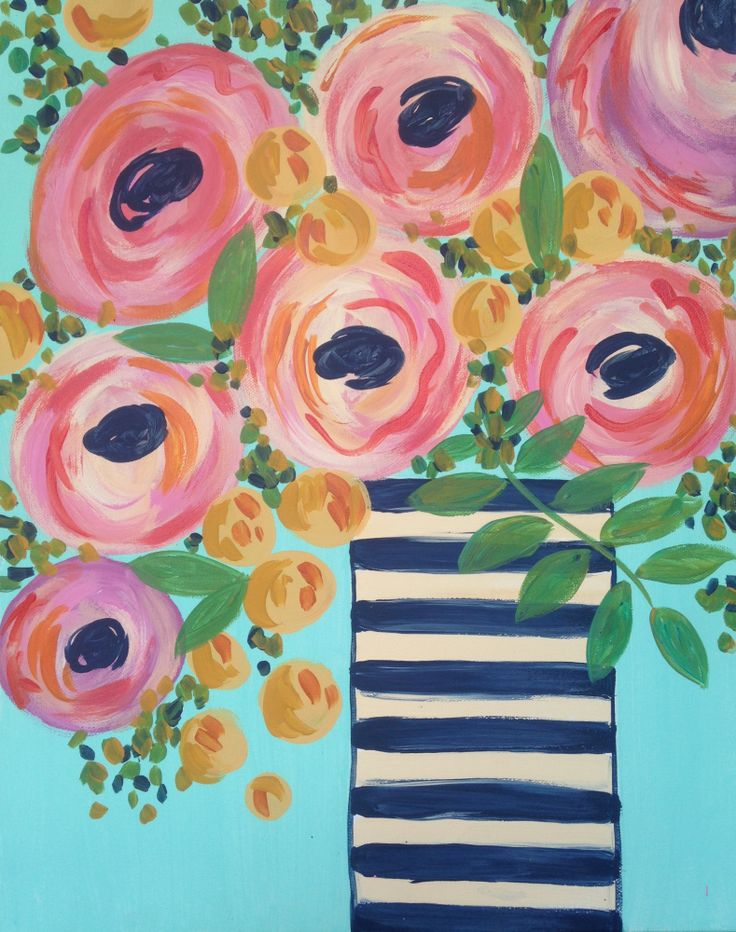Join us at Pinot's Palette - Des Moines Studio on Sun May 08, 2016 11:00-1:00PM for Rosie Posies. Seats are limited, reserve yours today!