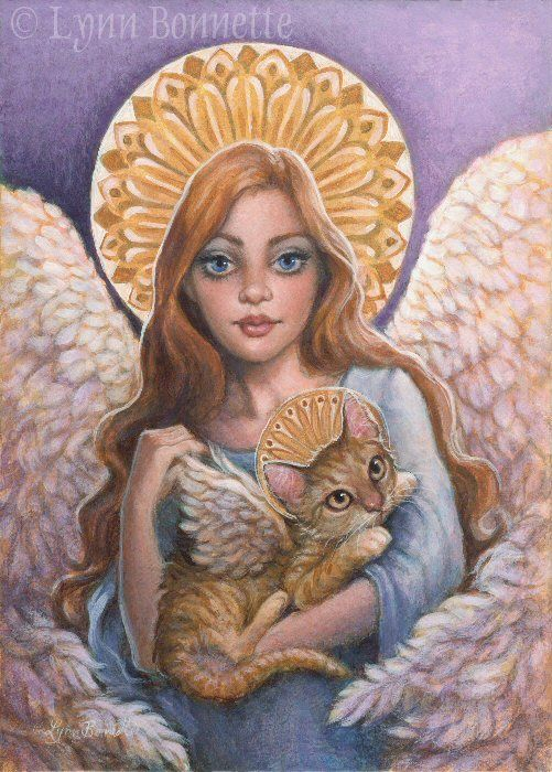 Картинки кошек и ангелов