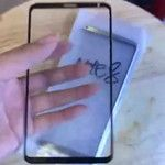 Alleged Samsung Galaxy Note 8 front panel revealed in video