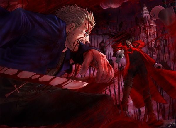 Anderson and Alucard Hellsing Ultimate