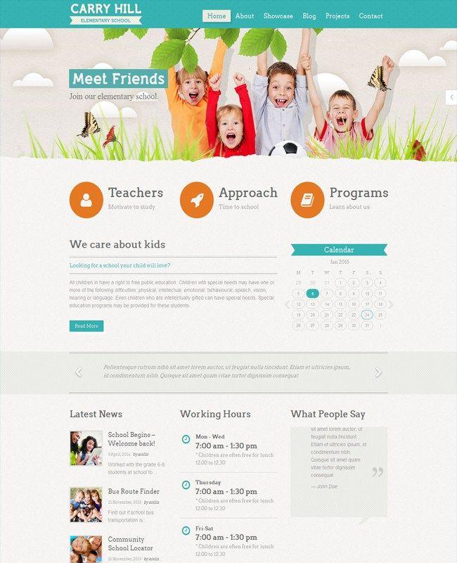 Carry Hill School - Child Care WordPress Theme