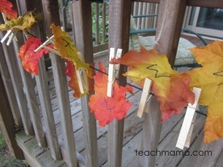 Leafy, Outdoor Alphabet Letter Hunt from Teach Mama