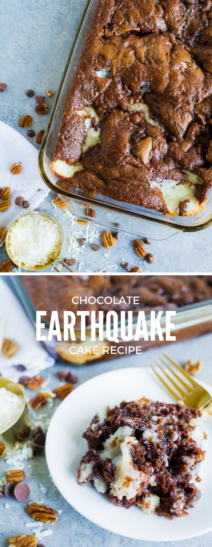 This Earthquake Cake is rich and decadent. The perfect cake recipe. Named the Earthquake Cake because the ingredients shift around when baking.