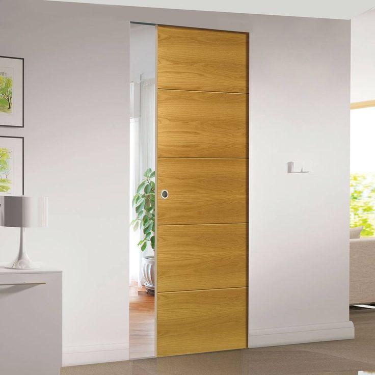 Deanta Augusta Oak Syntesis Pocket Door, Prefinished.    #flushdoor  #pocketdoor  #internaldoor  #door  #modernflat
