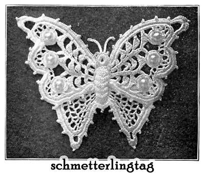 irish crochet patterns free | Vintage Irish Crochet Book Butterfly Purse Designs 1912