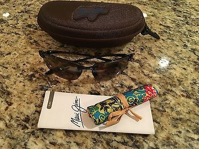 NEW Maui Jim Ho'okipa MJ Sport Sunglasses 407-02 With Case Retail $165