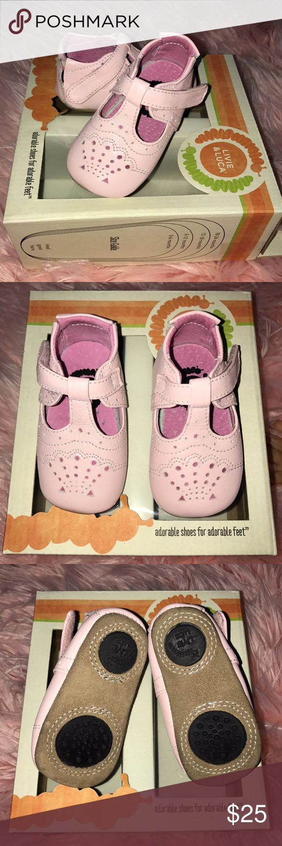 Livie & Luca Baby Girl Shoes Livie & Luca Infant Girl Shoes- Light Pink- Size 0-6 months -LIKE NEW in original box -Size 0-6 months -Color Light Pink -Style Cora (Classic Mary Janes) -Smooth Genuine Leather Livie & Luca Shoes Baby & Walker