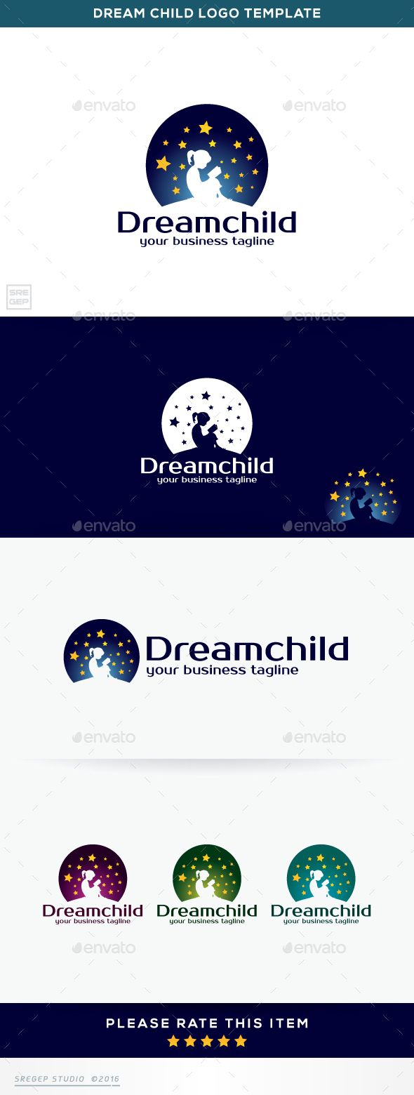 Dream Child — Vector EPS #kids #help • Available here → https://graphicriver.net/item/dream-child/15020036?ref=pxcr