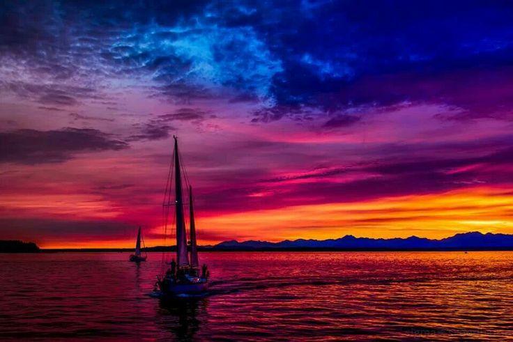 sunset on the seattle - photo #42