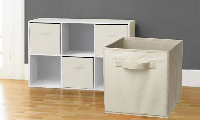 6-Pack of Collapsible Storage Cubes | Groupon