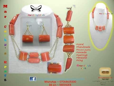 #coral_bead #beaded_jewellery #fashion_statement #statement_jewellery  #beads #bea(ds)utiful #handmade #style #owanbe  #made_in_Naija #MarCathys_Kraft #Facebook #Exodus35:31-32 #Proverbs16v3 #Proverbs31:10-end