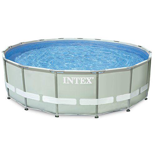 "Intex Ultra Frame Pool Set with Cartridge Filter Pump, 16 x 48"", Gray - http://www.facebook.com/942471062504263/posts/1003085363109499"
