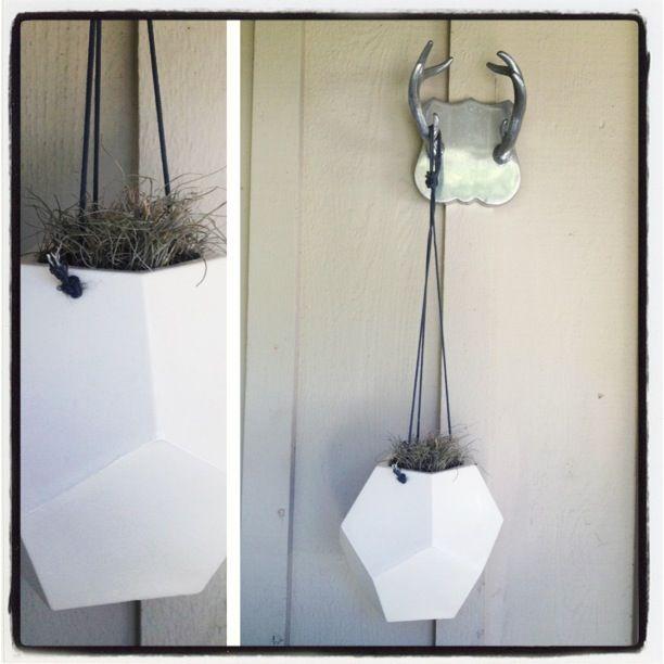 Dodecahedron hanging planter // Andrea Luna Reece ceramics