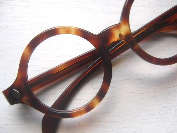 large thick 60s round tortoise eyeglass frames