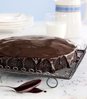 The key to a glistening glaze is to pour while it's warm, guiding it with a spoon toward the cake's sides, where it can drip in slow motion. Use this rich glaze to ice our Basic Chocolate Cake or Basic Vanilla Cake.