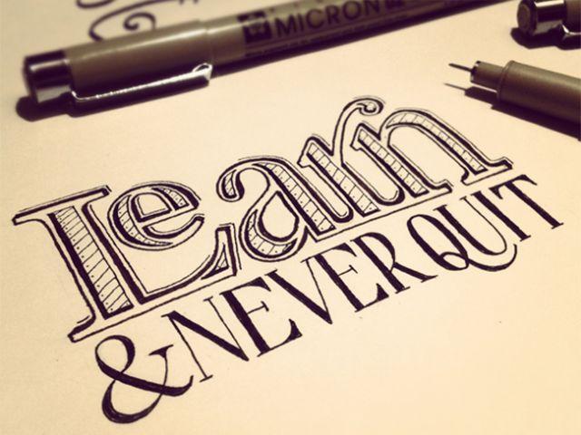Sean McCabe, graphiste américain qui voue une passion pour la réalisation de typographies réalisées à la main - http://www.fubiz.net