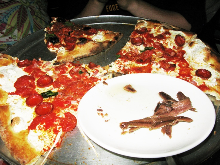 The best pizza in New York at Grimaldi's.