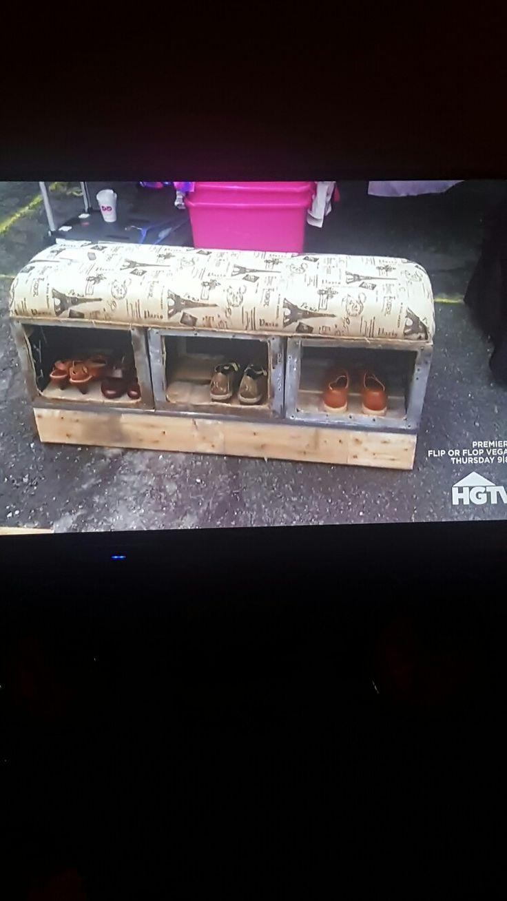 Flea market flip benches with storage space