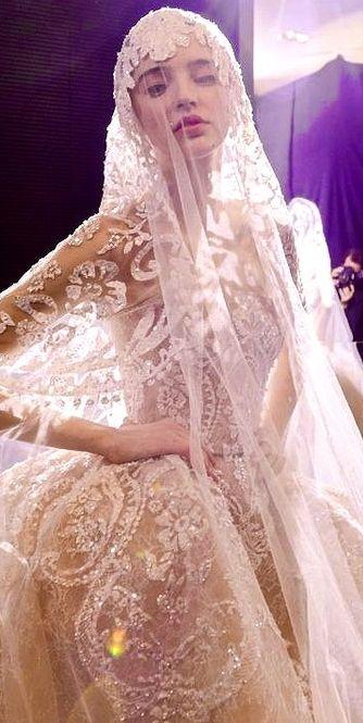 Amazing gown/ Backstage Elie Saab Haute Couture 2015 ♥ #wedding #weddingdress