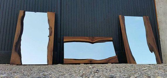 Specchio in legno specchio in legno rustico di PANwoodenproducts