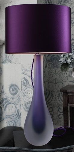 Purple Table Lamp Lamps Modern Contemporary Living Room