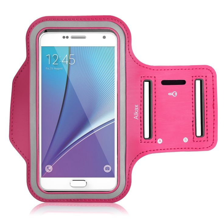 Galaxy S5 Armband, Galaxy S6 Armband, Galaxy S7 Armband. Alkax Sports Exercise Water Resistant Series Hyrid Armband Running Pouch Clear Touch With Key Holder For Walking+1 Free Stylus Pen(Hot Pink). Designed specifically for Galaxy S5, Galaxy S6, Galaxy S7, Lightweight armband keeps your phone secure and protected. MATERIALS: Made of stretch resistant neoprene. This easily bends, flexes, twists, and folds without warping. Comfort-grip keeps the band firmly on your arm during workouts and...