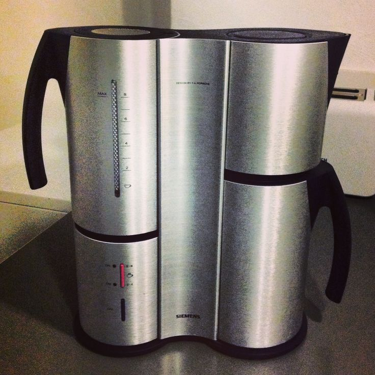 My newly acquired Siemens coffee machine - Porsche Design. Beautiful object! PD Useful Things ...