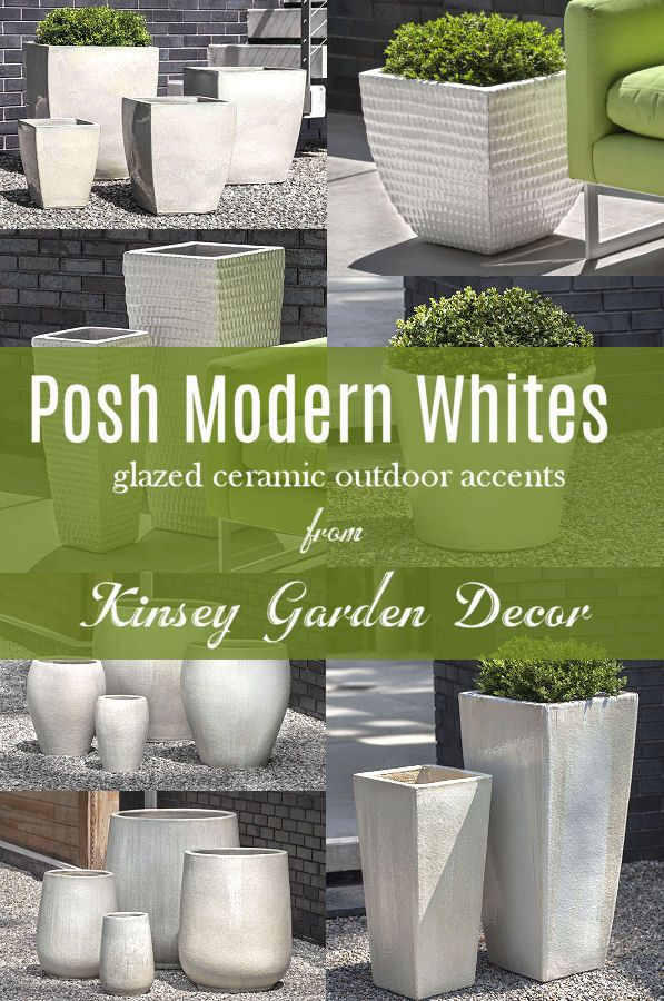 Ceramic Square Blake Planter Cream White Kinsey Garden Decor In 2020 White Ceramic Planter Large Ceramic Planters Ceramic Planters