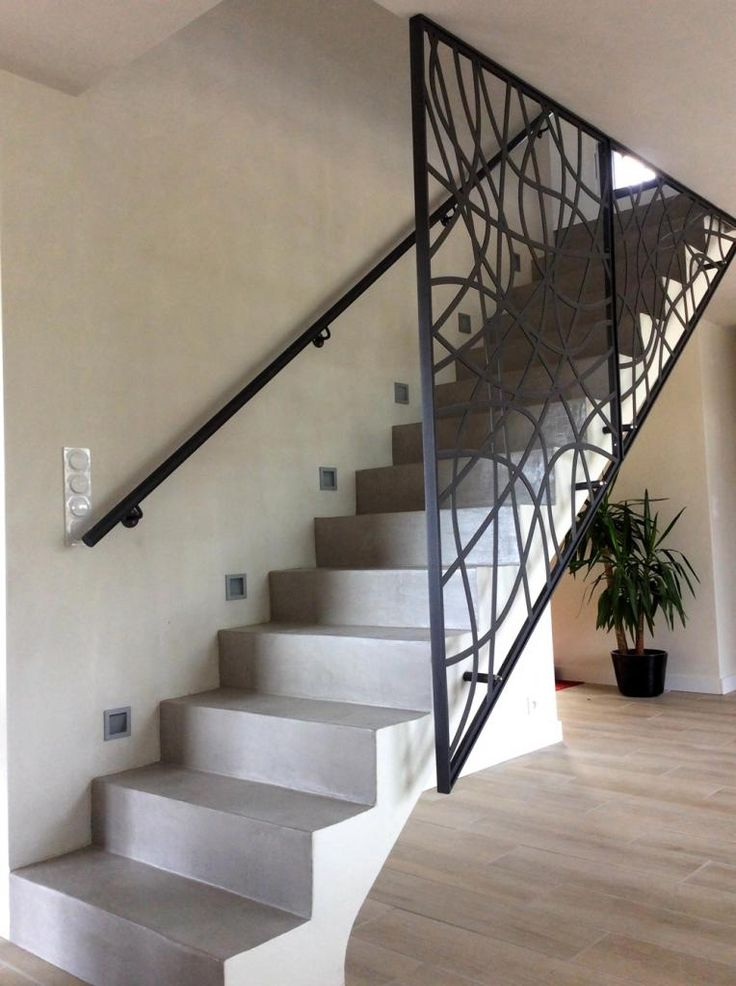 1000 id es sur le th me garde corps terrasse sur pinterest for Habillage escalier beton interieur