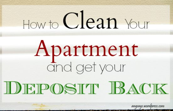 "Great info to share with your residents! ""How to Clean an Apartment and get your Deposit Back"""