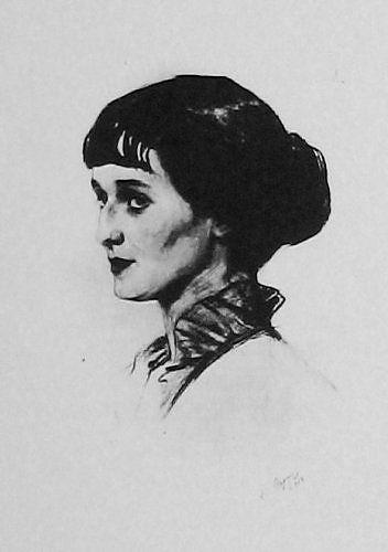 Портрет А. А. Ахматовой. Сорин С. А. 1914г.