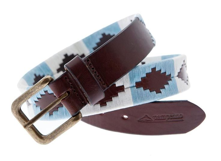 To add a touch of colour try a polo belt like Pampeano Bandera 1.5 Polo Belt in light blue and cream.