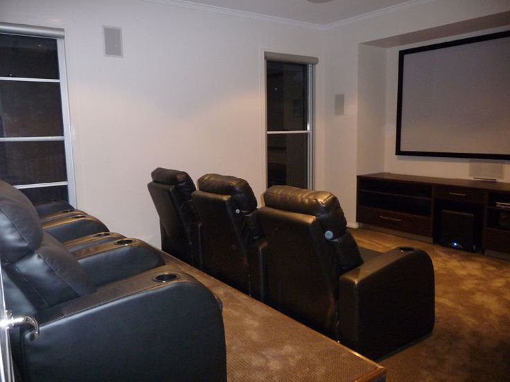 Stepped theatre/media room