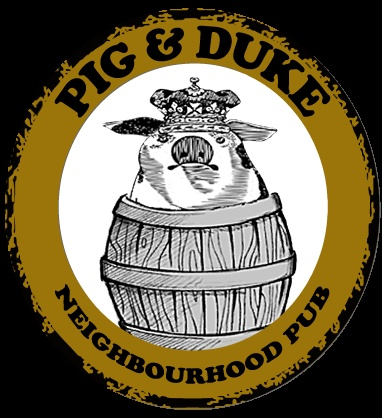 Pig & Duke Pub in Calgary - Hophead IPA and Thirsty Beaver Amber Ale on tap since they opened