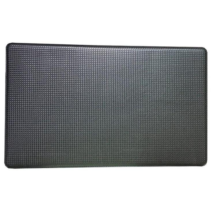 Premium Reversible Memory Foam Black 18 in. x 30 in. Anti-Fatigue Kitchen Mat
