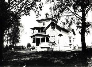 Kyrkhult, Karl Jönssons villa, Holjevägen. Huset byggdes 1907