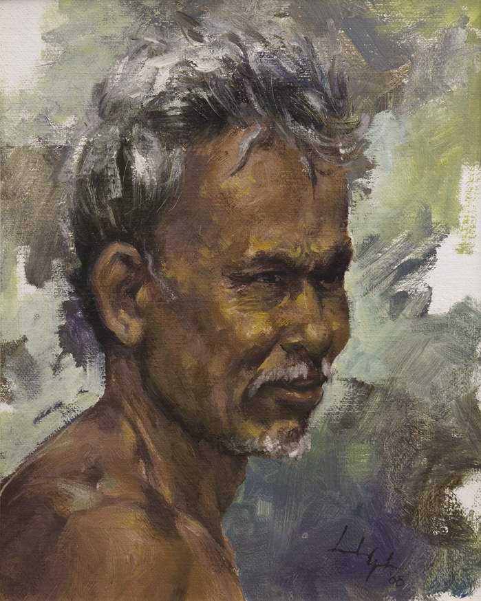 Leslie Goh, Fisherman, Pasut Beach, Bali, Indonesia, 2008 Oil on Canvas