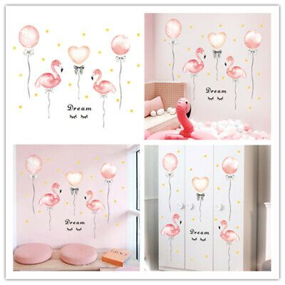 DIY Dormitory Bedroom Decoration Flamingo Balloon Wall Stickers Self-adhesive #fashion #home #garden #homedcor #decalsst