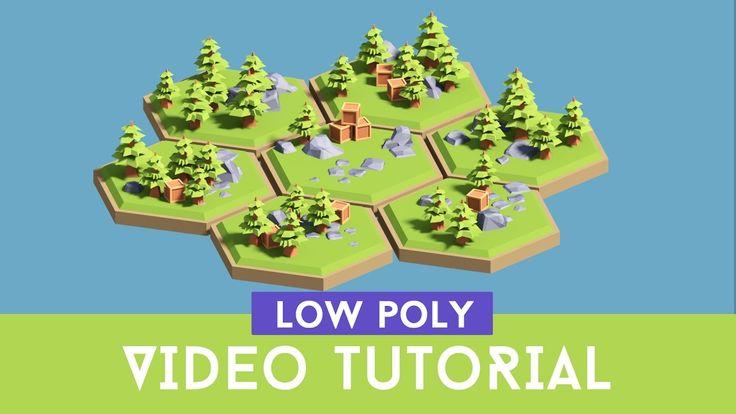 [Tutorial] Creating 3d Low Poly (cartoon) Hexagon Tiles ( Floating islan...