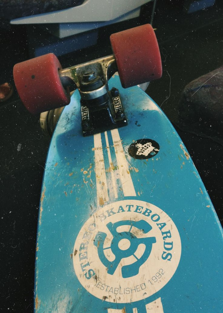 This is how I roll. Stereo vinyl mini cruiser all through town.