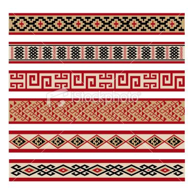 Indigenous Culture Patterns Royalty Free Stock Vector Art Illustration