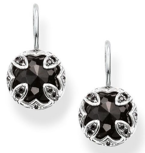 Thomas Sabo Earrings Glam & Soul Black Zirconia Onyx Silver | C W Sellors Fine Jewellery and Luxury Watches