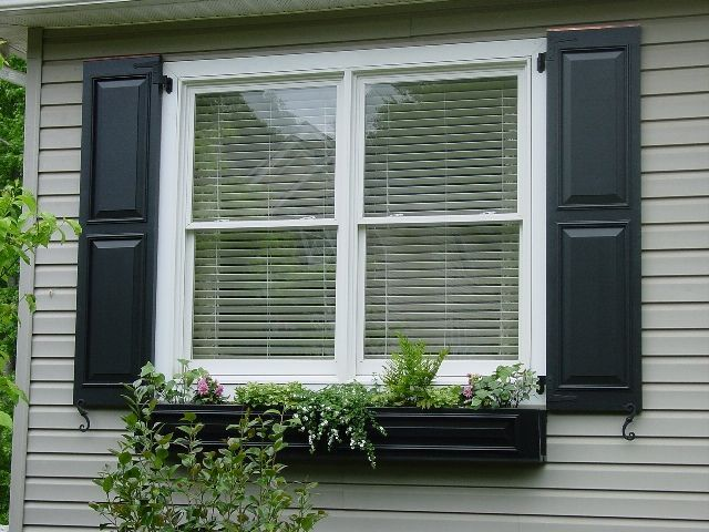 window boxes and shutters | another black shutter & window box