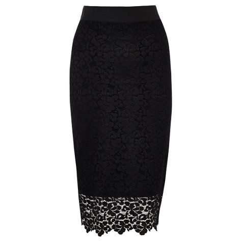 Buy Coast Tullah Lace Skirt, Black Online at johnlewis.com