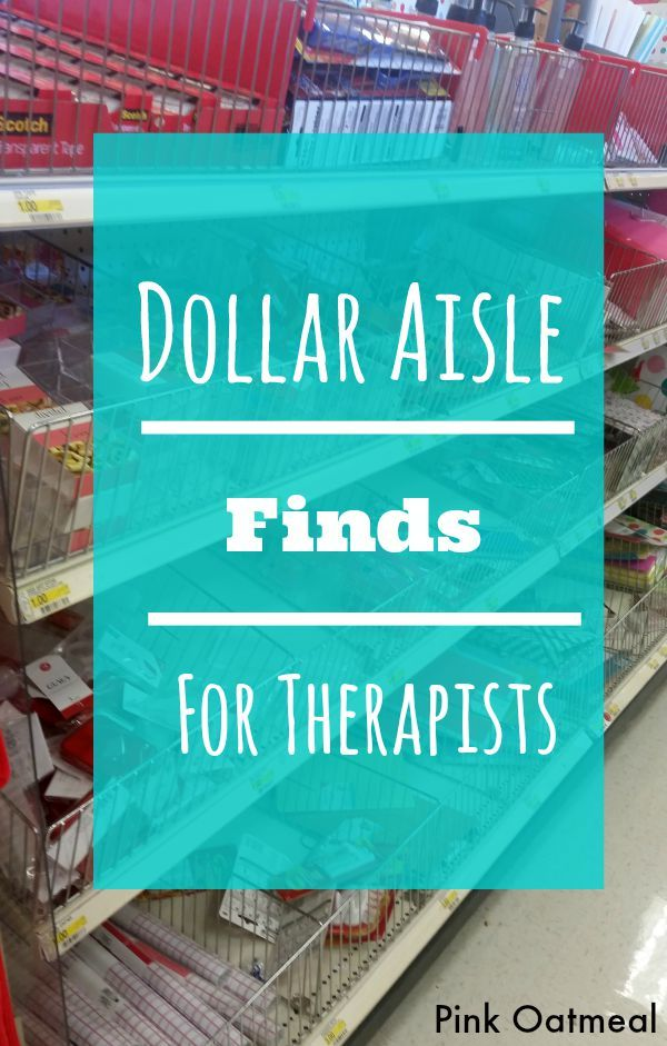 Dollar Aisle Finds For Therapists - Pink Oatmeal