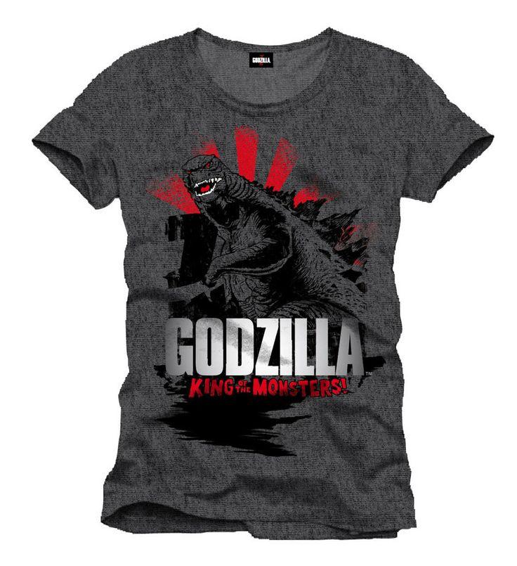 Camiseta Godzilla, el rey de los monstruos marinos Espectacular camiseta en color gris que gustará y mucho a todos los fans de Godzilla donde podemos ver una imagen de este donde nos lanza una mirada desafiante e inquietante al mismo tiempo.